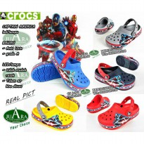 sandal anak , crocs captain america led/lampu