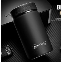 Botol Minum Thermos Mini Stainless Steel 400ML - Black
