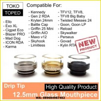 Drip Tip Mouthpiece Glass 12.5mm | druga limitless goon TFV12 govad TM