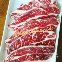 Daging Sapi US Short Ribs Beef Choice Boneless Galbi / Kalbi Cut 1cm