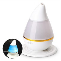 Mini Ultrasonic Air Humidifier Aroma Therapy - White