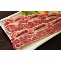 Daging Sapi US Choice Short Ribs b0nein Beef Kalbi Cut 1cm marbling4+