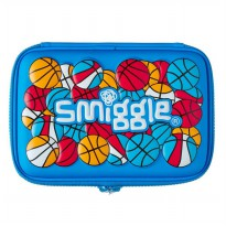 Smiggle Kotak Pensil Funk Ball Mild Blue Double Hardtop Pencil Case - Biru