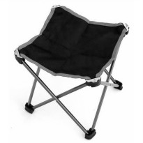 Kursi Lipat Outdoor Fishing Stool Chair - Black/Gray