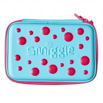 Smiggle Tempat Pensil Spot Double Up Hardtop Pencil Case - Blue