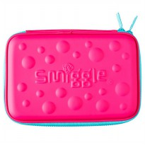 Smiggle Bubble Hardtop Pencil Case - Pink
