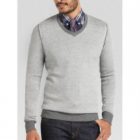 (Brother Joey) Sweater V Neck Collar Men katun 4 UKURAN ( S M L XL)