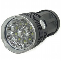 Lampu Senter Waterproof LED XM-L T6 4000 Lumens - Black