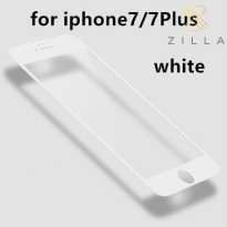 Zilla 3D Carbon Fiber Tempered Glass Curved Edge 9H for iPhone 7 - White