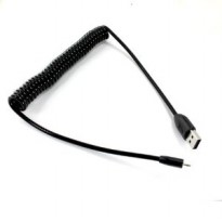 Taff Spring Micro USB Charging Cable 1m - Black