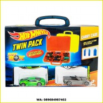 Hot Wheels Twin Pack Carry Case (Isi 2 box hot wheels + 3pcs Hotwheels