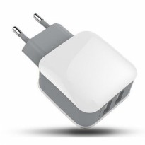 Dual Port USB Charger Travel - White