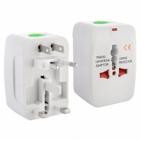 Universal Travel Adapter EU AU UK US Plug - White