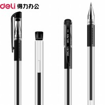 Deli Pena Ballpoint Gel 0.5mm 1 PCS - Black