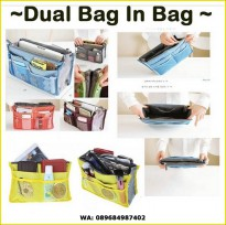 Korea Dual  Bag - Tas Organizer / Bag in bag / Tas - organizer