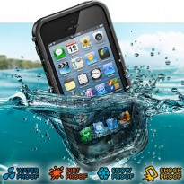 Casing Waterproof Ultra-slim untuk iPhone 5/5S/SE - Black
