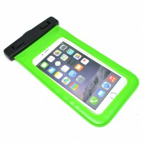 Waterproof Bag PVC + ABS Clip for iPhone 6 Plus - Green