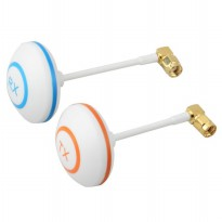 5.8 GHz Circular Polarized Mushroom Antenna TX/RX with Right Angle SMA Female for FPV - White
