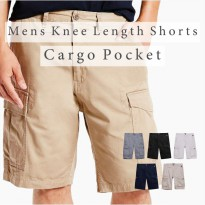 Branded Mens Knee Length Shorts With Cargo Pockets Celana Pendek Cargo