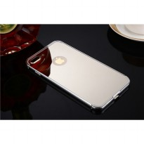 Aluminium Bumper with Mirror Back Cover for iPhone 7 Plus - Silver