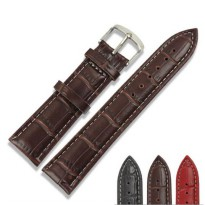 Tali Kulit Jam Tangan Bamboo Grain Watchband Leather Strap 20mm - Brown