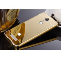 Aluminium Bumper with Mirror Back Cover for Xiaomi Redmi Note 3 / Note 3 Pro (KENZO) - Golden