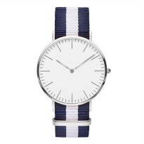 Jam Tangan Fashion Strap Berwarna (OEM) - White/Blue