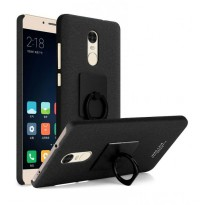 Imak Contracted iRing Hard Case for Xiaomi Redmi Note 4 - Black