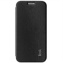 Imak Flip Leather Cover Case Series for Samsung Galaxy S6 Edge - Black