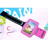 Neoprene Material Sports Armband Case with Key Storage for Samsung Galaxy S3/S4/S5 - ZE-AD206 - Rose