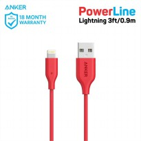 ORIGINAL Anker Powerline Lightning 3ft - Red A8111H91