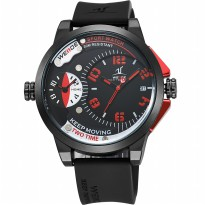 Weide Universe Series Dual Time Zone 30M Water Resistance - UV1501 - Red