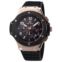 MEGIR Jam Tangan Analog - MN3002 - Black Gold