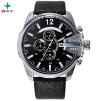 NORTH Jam Tangan Analog - 6002 - Black