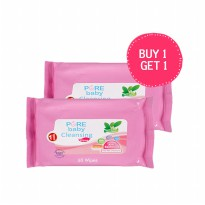 [BUY ONE GET ONE] Pure Baby Cleansing Wipes Tea Olive Beli 1 gratis 1