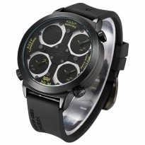 Weide Universe Series Triple Time Zone 30M Water Resistance - UV1503 - Yellow