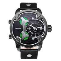 NORTH Jam Tangan Analog - 6001 - Black