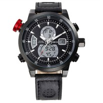NORTH Jam Tangan Analog Digital Elegan - 6015-2 - Black