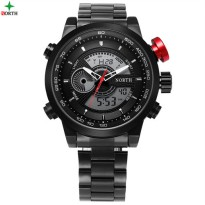 NORTH Jam Tangan Analog Digital Strap Stainless Steel - 6015 - Black