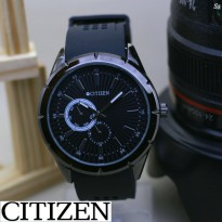 Promo! JAM TANGAN PRIA CITIZEN RUBBER CHRONO ACTIVE BLACK COVER WHITE