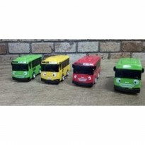 Hobi TAYO THE LITTLE BUS SET 4 MAINAN / TOPPER CAKE - PULL BACK ACTION