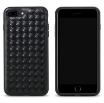 Remax Weave Series Leather Hard Case for iPhone 7 - Black
