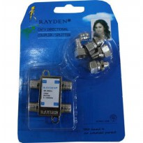 [1+1] Splitter TV Merk Rayden 3 cabang ( CATV Directional Coupler ) Buy 1 Get 1