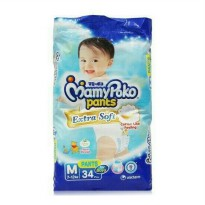Pampers Mamy Poko Extra Soft Pants (celana) Boy/Girl uk.M isi 34 pcs