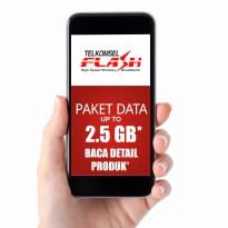Telkomsel FLASH Paket Data up to 2.5GB* BACA DETAIL PRODUK