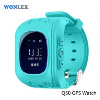 Wonlex Kids Monitoring Smartwatch LCD Screen with GPS + SOS Function - Blue