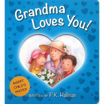 [HelloPanda] Grandma Loves You! Board Book (with slot to insert child's photo)