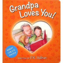 [HelloPandabooks] Grandpa Loves You! Board Book (with slot to insert child's photo)