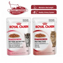 ROYAL CANIN INSTINCTIVE KITTEN / ADULT IN JELLY / GRAVY SAUCE