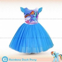 Dress Anak Tutu My Little Pony Rainbow Dash